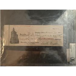 Beckett Orville Wright Signed Check