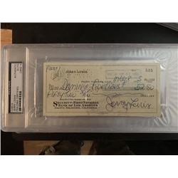 PSA/DNA Jerry Lewis Signed Check