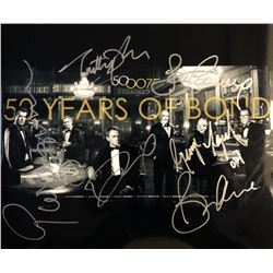 "James Bond ""50 Years of Bond"" Signed Mini Poster"