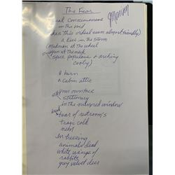 Morrison Signed The Fear Lyrics w/ Handwriting Analysis