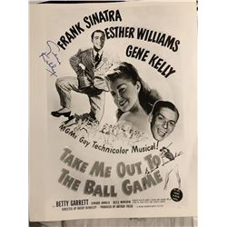 "Frank Sinatra & Gene Kelly ""Take Me Out to the Ball Game"" Signed Poster"