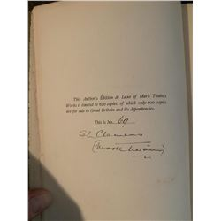 PSA/DNA Mark Twain Signed 1st Edt. Innocents Abroad & Other Novels
