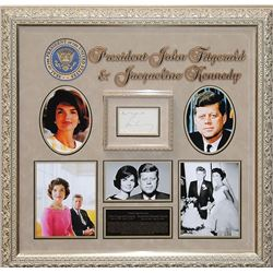John F. and Jacqueline Kennedy Framed Signature Collage