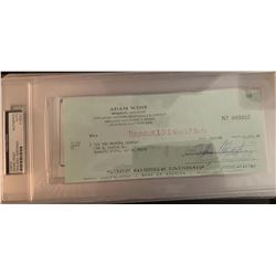 PSA/DNA Adam West Signed Check
