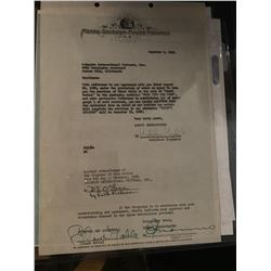 PSA/DNA Clark Gable Signed Metro Gone With the Wind Contract