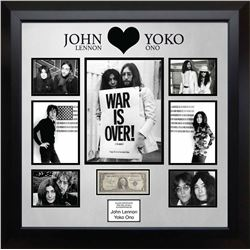 United Stated Silver Certificate Signed by John Lennon and Yoko Ono