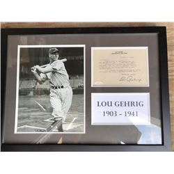 Lou Gehrig Signed, Framed & Authenticated Letter Collage