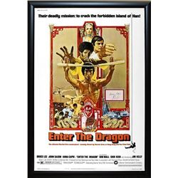 Enter The Dragon Signed Movie Poster