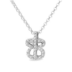 0.13 CTW Diamond Necklace 18K White Gold - REF-20N2Y