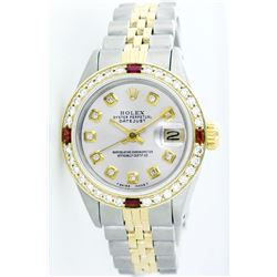 Rolex Pre-owned 26mm Womens Custom Silver Two Tone - REF-530N4H