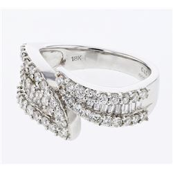 1.42 CTW Diamond Ring 18K White Gold - REF-149Y9X