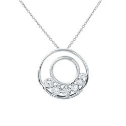 0.15 CTW Diamond Necklace 14K White Gold - REF-24N5Y