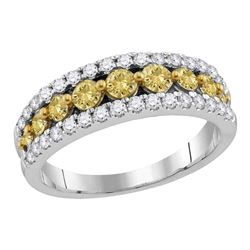 2.06 CTW Yellow Diamond Ring 14KT White Gold - REF-194F9N