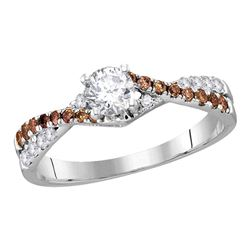 0.75 CTW Diamond Solitaire Bridal Engagement Ring 14KT White Gold - REF-119W9K
