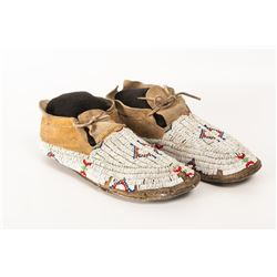 Two pair of Beaded Moccasins