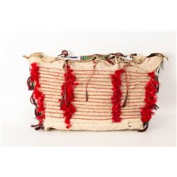 """Northern Plains Beaded and Quilled Possible Bag, 23"""" x 14"""""""