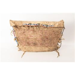"Northern Plains Beaded & Quilled Possible Bag, 25"" x 15"""
