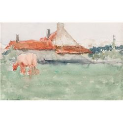 Eanger Irving Couse, watercolor