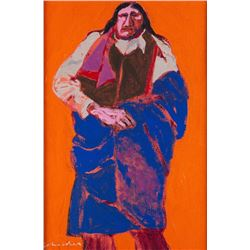 Fritz Scholder, acrylic on canvas