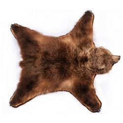 "Interior Alaska Grizzly Rug, 8'5"" diagonally"