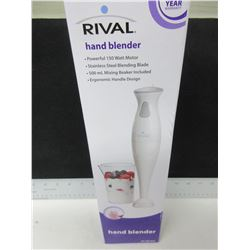 New Rival Hand Blender / stainless blade chops,purees,minces&blends