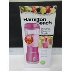 New Hamilton Beach Personal Creations Blender with travel lid / great for