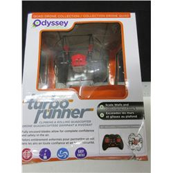 New Odyssey Turbo Runner Quadcopter scale walls & drive on the ceiling