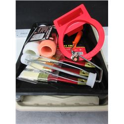 New Painting Bundle / rollers- brushes - can holster for brush - 2 trays