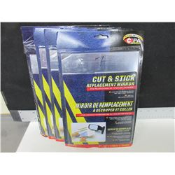 """4 Cut and stick Replacement Mirrors / 7 x 10"""" sheets"""