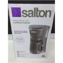 New Salton 1 cup Coffee Maker / includes ceramic mug & permanent filter