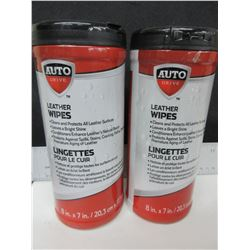 2 New Auto Drive Leather Wipes 25 per can