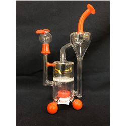 """EVOLUTION CYCLONE 6.25"""" RED GLASS BONG W/ BOWL"""