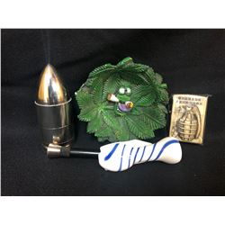 420 ACCESSORIES LOT (GRINDER/ PIPE...)