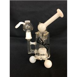 "EVOLUTION TROPICAL STORM 7"" WHITE BONG W/ BOWL"