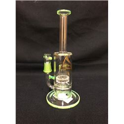 "EVOLUTION SUPER CELL 9.5"" APPLE GREEN GLASS BONG W/ BOWL"