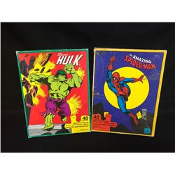 GIANT FLOOR PUZZLE LOT (THE INCREDIBLE HULK/ THE AMAZING SPIDER-MAN)