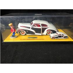 JADA TOYS ROAD RATS 47' CHEVY FLEETLINE 2 CAR SET WITH FIGURE (1:64/ 1;24)