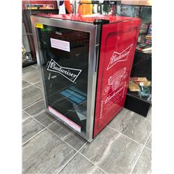 """BRAND NEW"" BUDWEISER BAR FRIDGE 20"" X 30"""