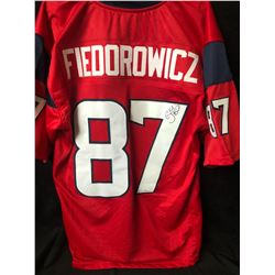 C.J. Fiedorowicz Signed Texans Football Jersey W/ COA