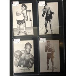 1947-66 Boxing Exhibits Boxing Card Lot (Pastrano/ Logart...)