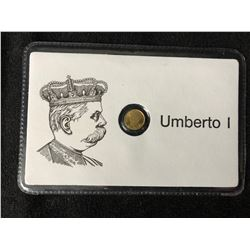 UMBERTO 1 MINI GOLD COIN