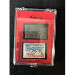 EXPO 67  STAMP AND STERLING SILVER STAMP SET