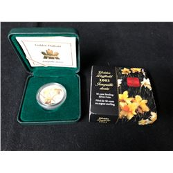ROYAL CANADIAN MINT  GOLDEN DAFFODIL  50 CENTS .925 SILVER