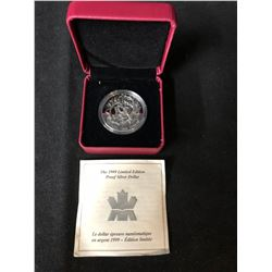 ROYAL CANADIAN MINT  1999 LIMITED EDITION PROOF SILVER DOLLAR .925 SILVER