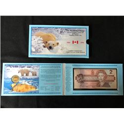 1866-1996  FIRST CANADIAN $2 COIN AND LAST CANADIAN $2 BILL