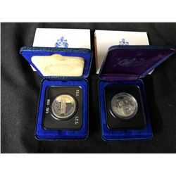 LOT OF 2  ROYAL CANADIAN MINT CASED DOLLARS