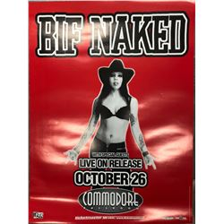 BIF NAKED OFFICIAL CONCERT POSTER (VANCOUVER BC)