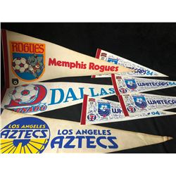 SOCCER PENNANTS LOT