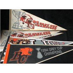 BC LIONS FOOTBALL PENNANTS LOT