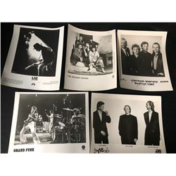 "8"" X 10"" ROCK N' ROLL PROMO PRESS PHOTO LOT (US/ ROLLING STONES/ GRAND FUNK...)"